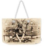Granny Sitting On A Bench Knitting Ursinus College Weekender Tote Bag