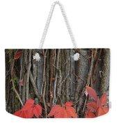 Grape Leaves On Column Weekender Tote Bag