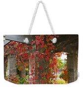 Grape Leaves On Columns Weekender Tote Bag