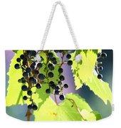Grapes And Leaves Weekender Tote Bag
