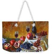 Grapes And Pomgranates Weekender Tote Bag
