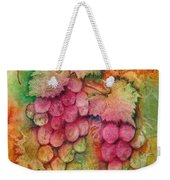 Grapes With Rust Background Weekender Tote Bag