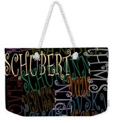 Graphic Composers Weekender Tote Bag