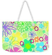 Graphic Flowers Weekender Tote Bag by Louisa Knight