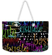 Graphic Music Weekender Tote Bag