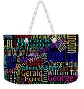 Graphic Presidents Weekender Tote Bag