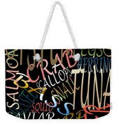 Graphic Seafood Weekender Tote Bag