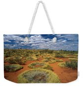Grass Triodia Sp Covering Sand Dunes Weekender Tote Bag