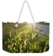Grasses On A Nebraska Farm Weekender Tote Bag