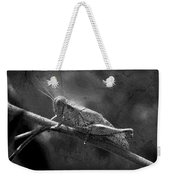 Grasshopper And Grunge In Black And White Weekender Tote Bag
