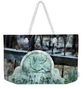 Gravestone With Dove Carved  Weekender Tote Bag