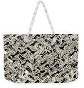 Gray Abstract Swirls Weekender Tote Bag