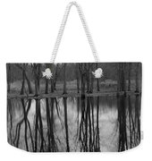 Gray Day Reflections Weekender Tote Bag