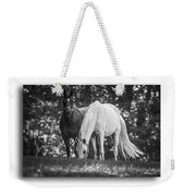 Grazing In Black And White Weekender Tote Bag