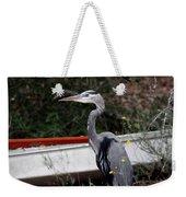 Great Blue Heron - Blue Man Flew Weekender Tote Bag