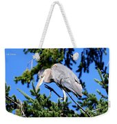 Great Blue Heron Concentration Weekender Tote Bag