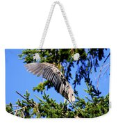 Great Blue Heron Cover Up Weekender Tote Bag