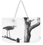 Great Blue Heron - Dead Pine Weekender Tote Bag