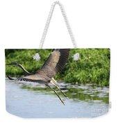 Great Blue Heron Escape Weekender Tote Bag