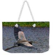 Great Blue Heron In Flight Weekender Tote Bag