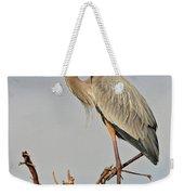 Great Blue Heron In Habitat Weekender Tote Bag