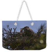 Great Blue Heron In Nest Weekender Tote Bag