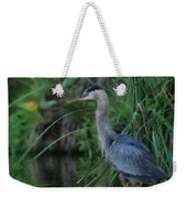Great Blue Heron Painterly Weekender Tote Bag