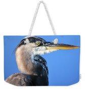 Great Blue Heron Portrait Blue Weekender Tote Bag