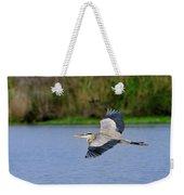 Great Blue Heron Soaring Weekender Tote Bag