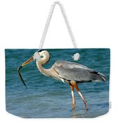 Great Blue Heron With Catch Weekender Tote Bag