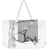 Great Egret - Gnarled Tree Weekender Tote Bag