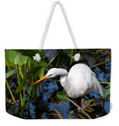 Great Egret Fishing Weekender Tote Bag