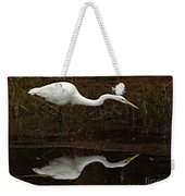 Great Egret Reflection 2 Weekender Tote Bag