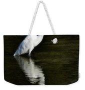 Great Egret Reflection  Weekender Tote Bag