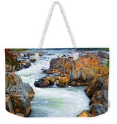 Great Falls On The Potomac River In Virginia Weekender Tote Bag