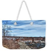 Great Falls Rr Bridge 10477c Weekender Tote Bag