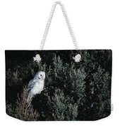 Great Gray Owl Strix Nebulosa In Blonde Weekender Tote Bag