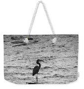 Great Grey Heron Silhouette Weekender Tote Bag