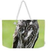 Great Grey Owl, Water Valley, Alberta Weekender Tote Bag