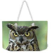 Great Horned Owl Bubo Virginianus Weekender Tote Bag