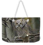 Great Horned Owl Pale Form Kootenays Weekender Tote Bag