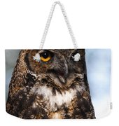 Great Horned Owl Portrait Weekender Tote Bag