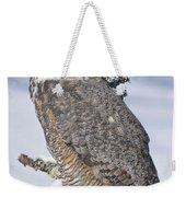 Great Horned Owl Portrait Weekender Tote Bag