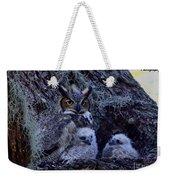Great Horned Owl Twins Weekender Tote Bag