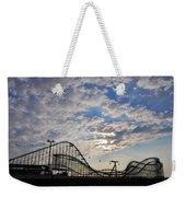 Great White Roller Coaster - Adventure Pier Wildwood Nj At Sunrise Weekender Tote Bag