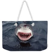 Great White Shark Smile Australia Weekender Tote Bag by Mike Parry