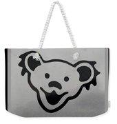 Greatful Dead Dancing Bear In Black And White Weekender Tote Bag