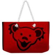 Greatful Dead Dancing Bear In Red Weekender Tote Bag