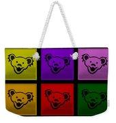 Greatful Dead Dancing Bears In Multi Colors Weekender Tote Bag