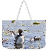 Grebe With Babies Weekender Tote Bag